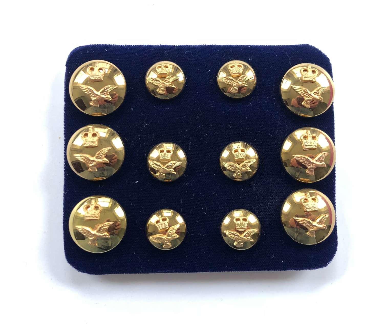 RAF Cold War Period Officer's Mess Gilt Buttons.