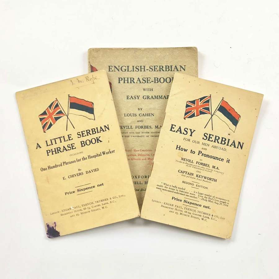 WW1 Scottish Women's Hospital Attributed English-Serbian Phrase Book