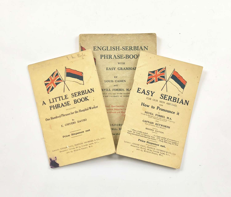 WW1 Scottish Women's Hospital Attributed English-Serbian Phrase Book