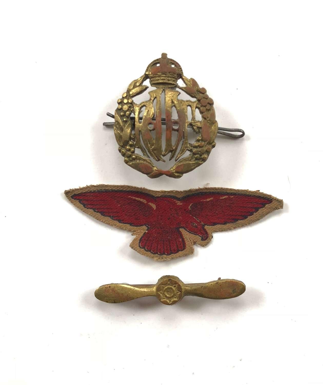 WW2 Royal Australian Air Force RAAF Cap Badge.