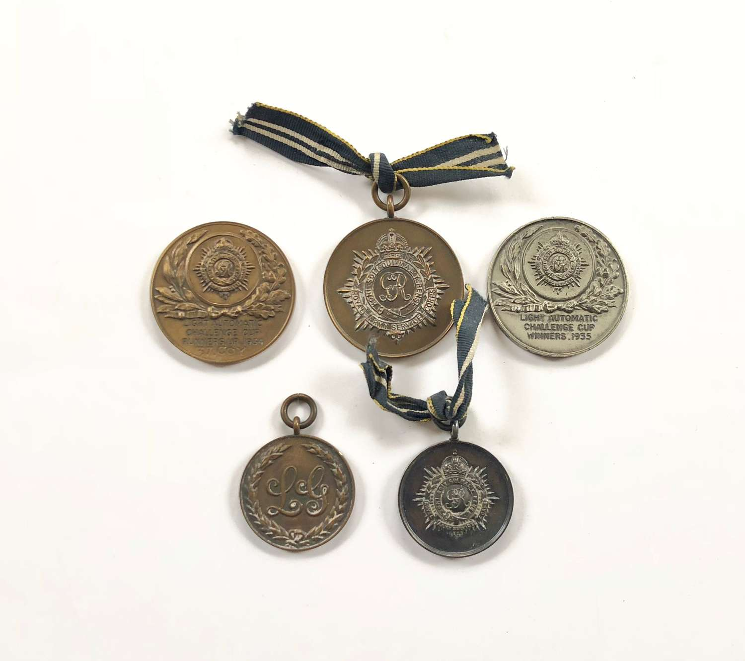 Selection of 1930's RASC Regimental Shooting Medals.