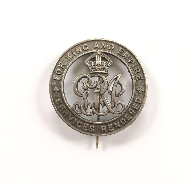 WW1 Royal Engineers Silver War Badge.