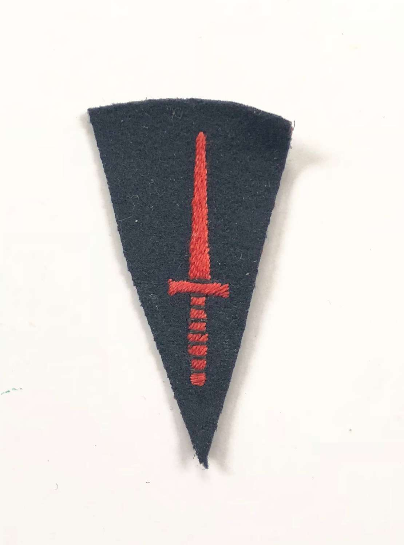 WW2 Royal Marine Commando Knife Cloth Badge.