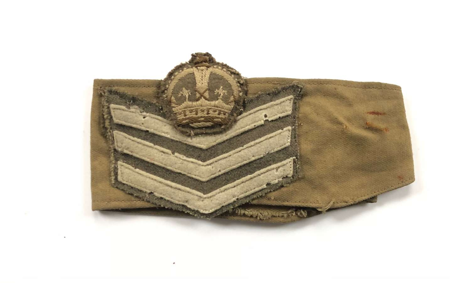 WW2 Period Sergeant Major Rank Armband.