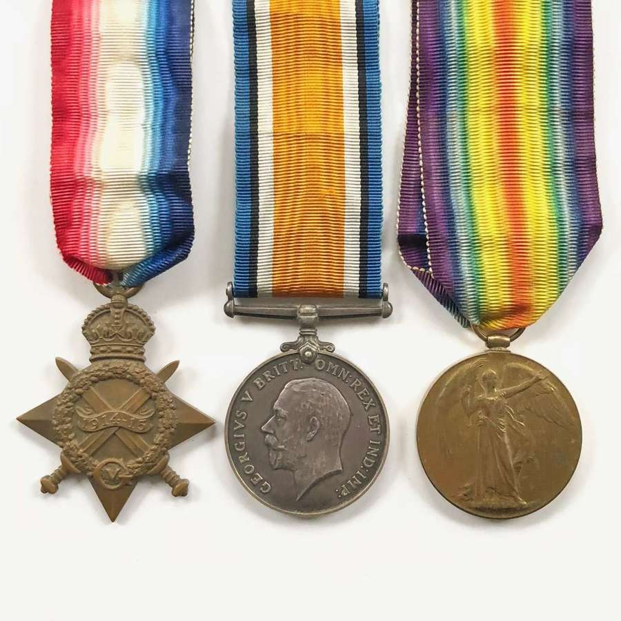 WW1 5th Bn Scottish Rifles Cameronians Officer's Medals.