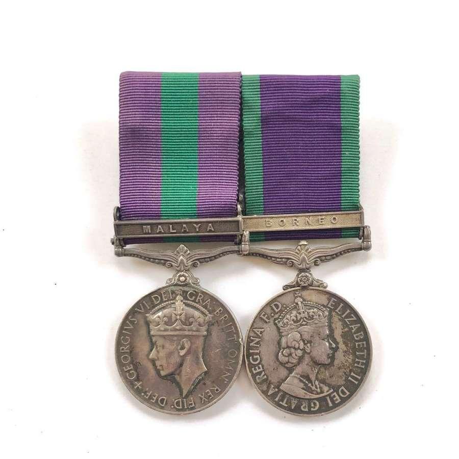 Gordon Highlanders General Service Medal Pair.