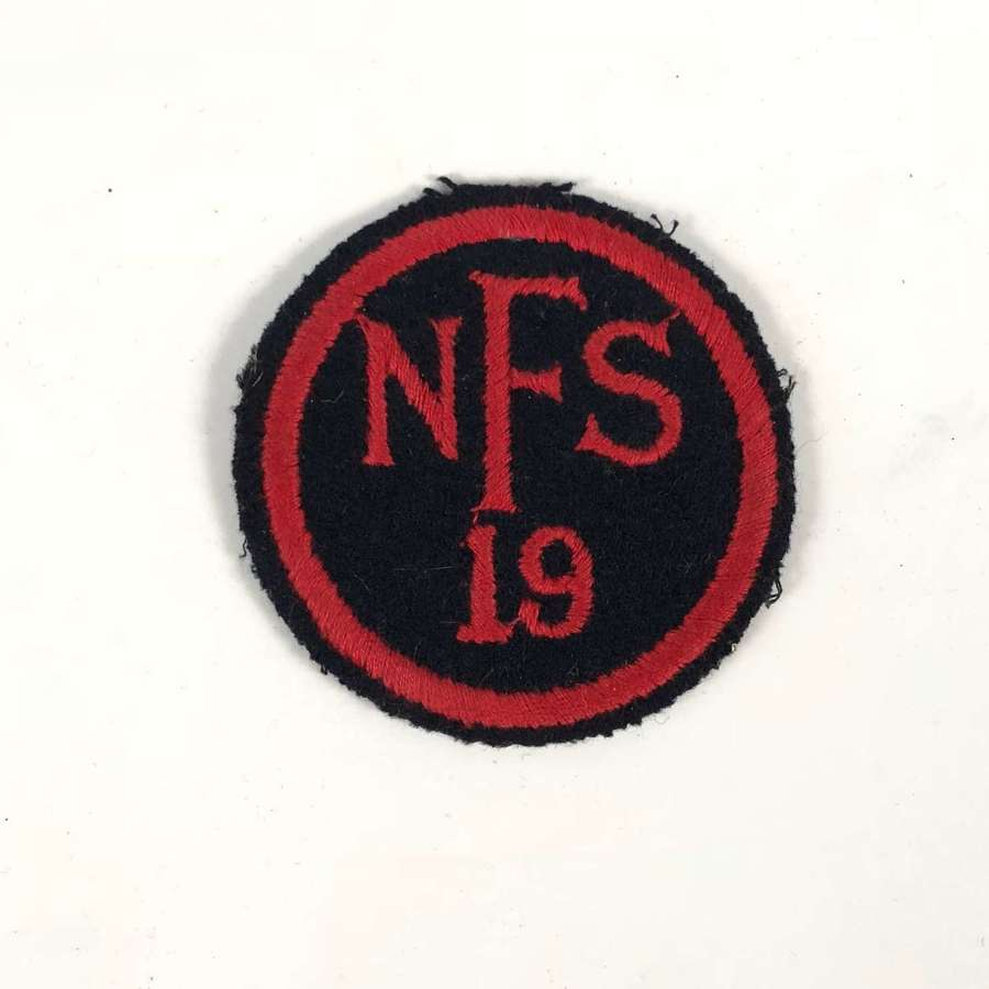 WW2 National Fire Service NFS 19 Yelverton Devon Fire Force Area Badge
