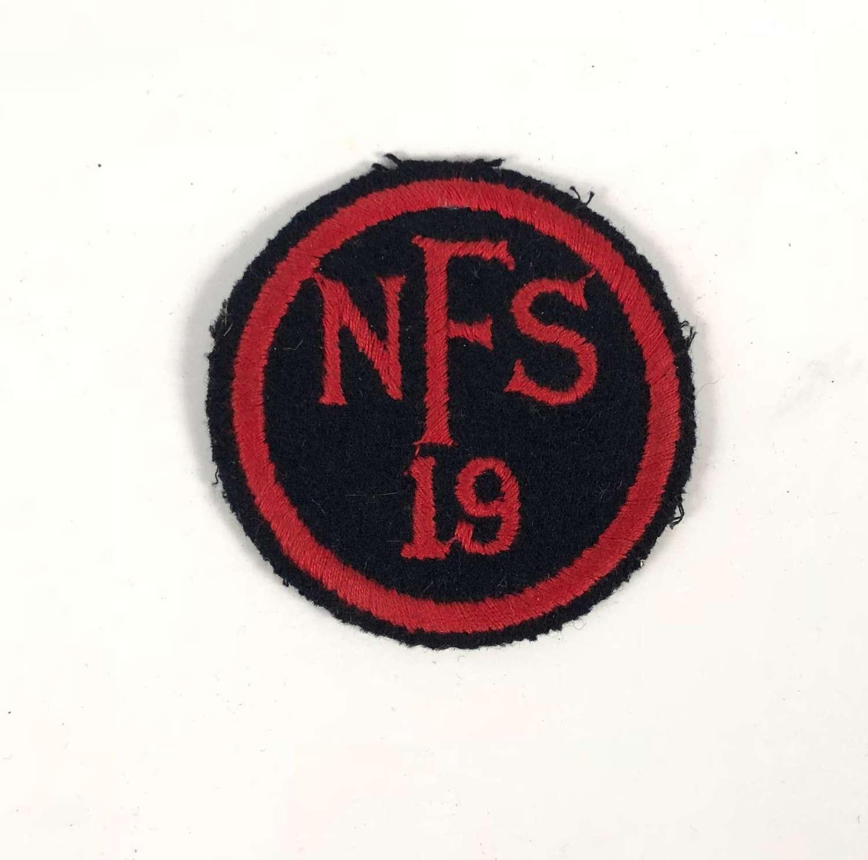 WW2 National Fire Service NFS 19 Yelverton Devon Fire Force Area Badge