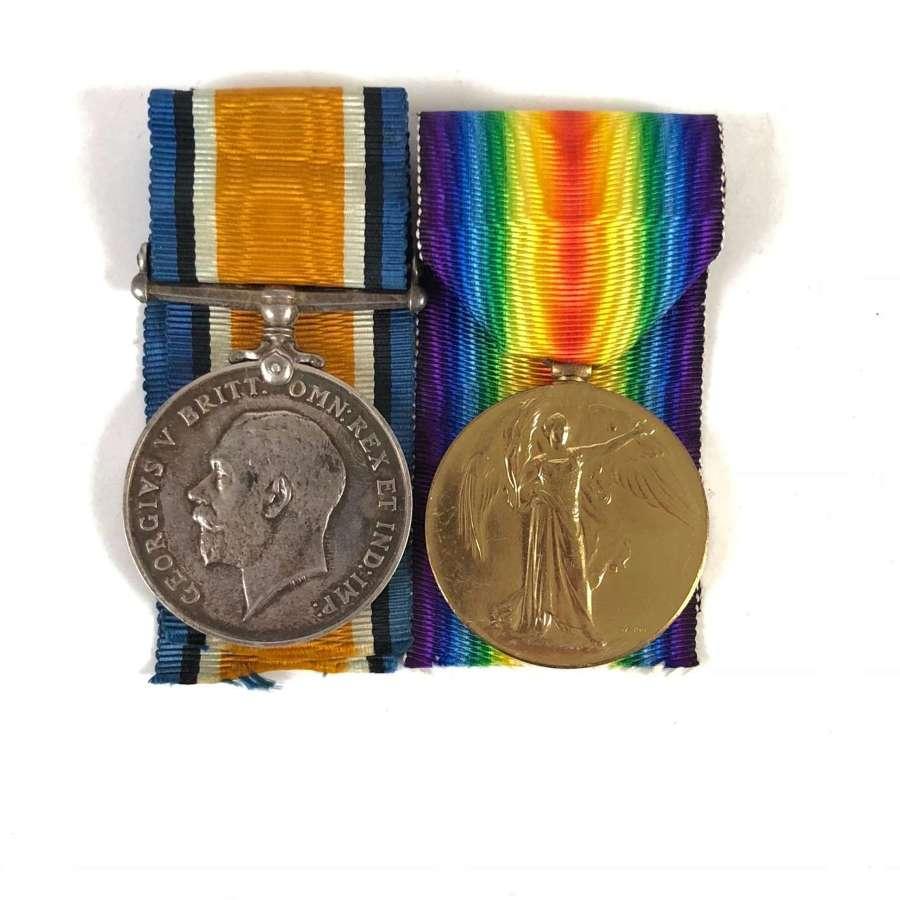 WW1 Officer's Medal Pair  Royal Field Artillery.