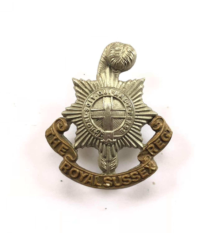 WW1/WW2 Royal Sussex Regiment Cap Badge