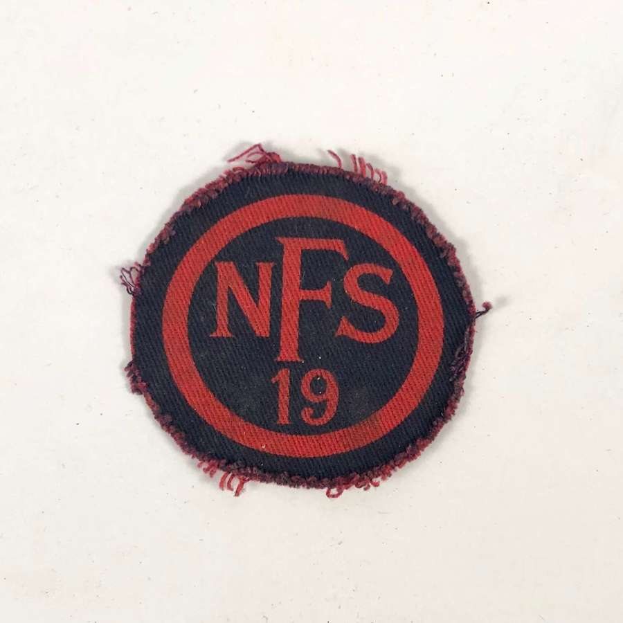 WW2 National Fire Service NFS 19 Yelverton Devon Fire Force Badge