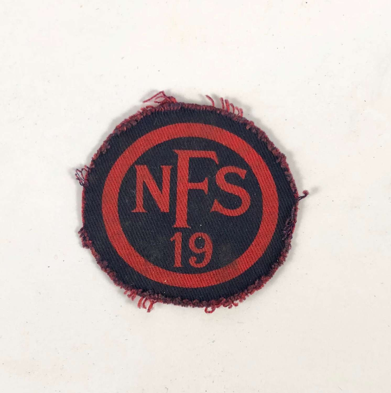 WW2 National Fire Service NFS 19 Yelverton Devon Fire Force Badge