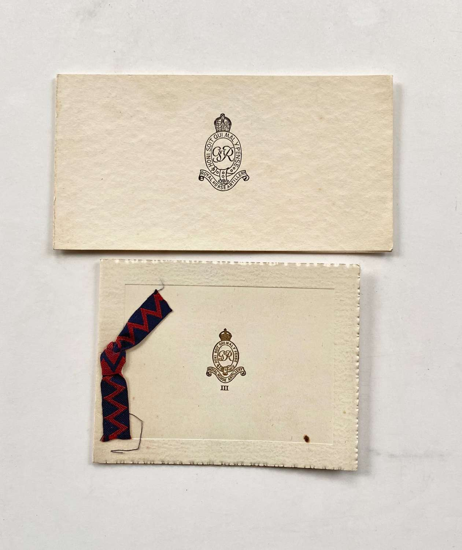 Royal Horse Artillery Cold War Christmas Cards
