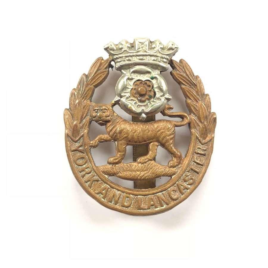 WW1/WW2 Pattern York & Lancs Cap Badge