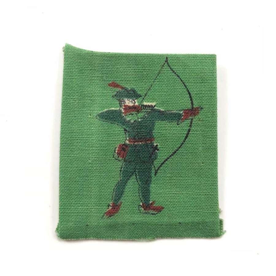 WW2 North Midland District Robin Hood Printed Formation Badge.