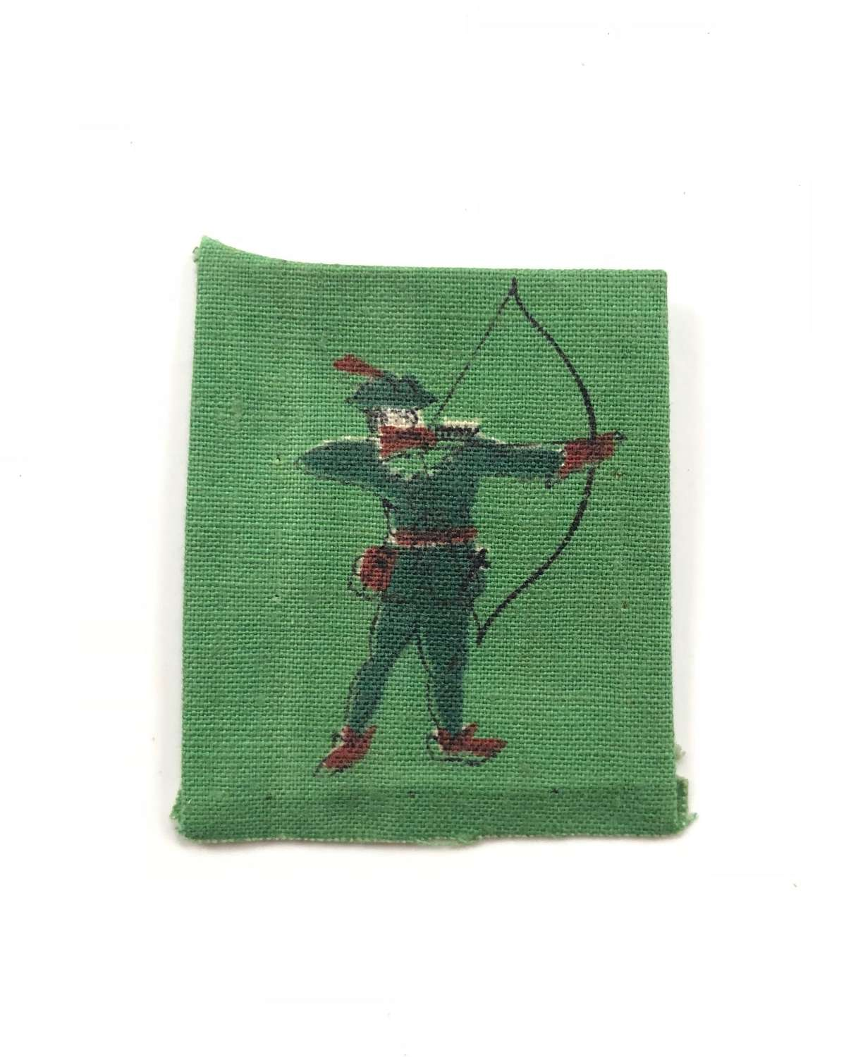 WW2 North Midland District Robin Hood Printed Formation Badge.