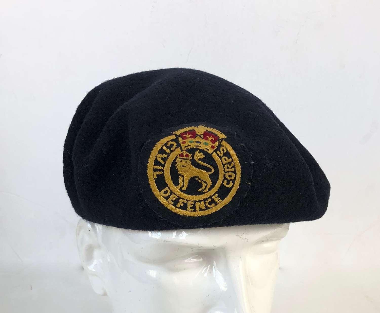 Cold War Home Front 1951 Civil Defence Beret,