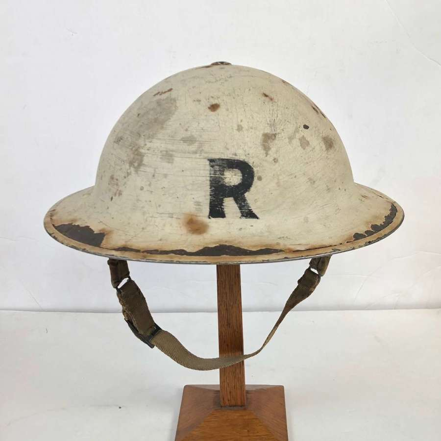 WW2 1939 Blitz Period Senior Rescue Wardens Helmet.