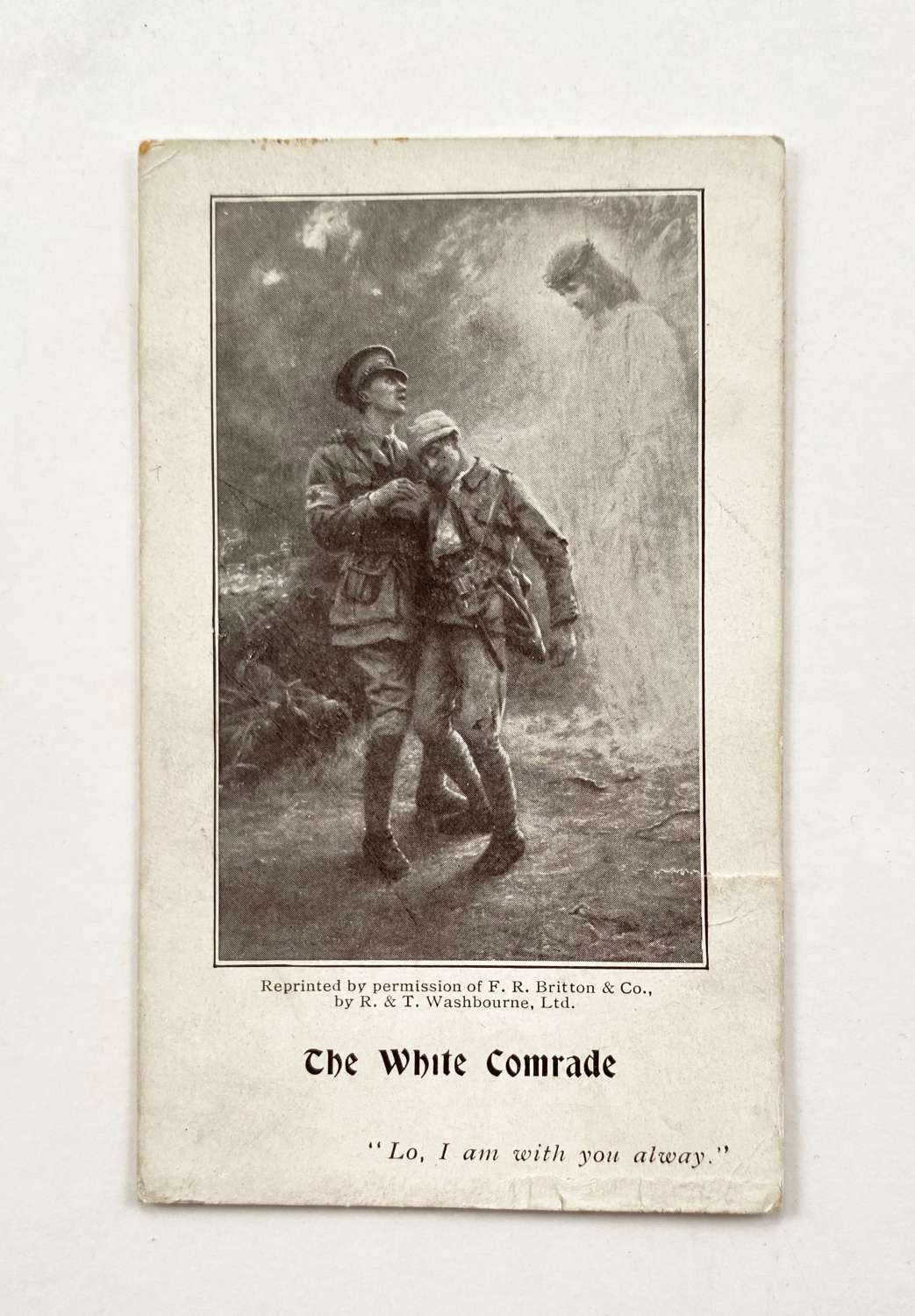 WW1 Patriotic Wounded Soldier Card.