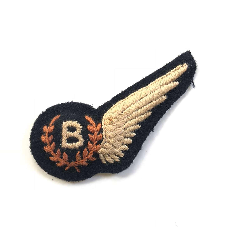 WW2 RAF Bomb Aimer Brevet Badge.