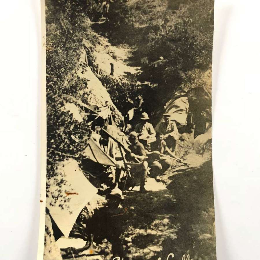 WW1 Gallipoli Shrapnel Gully Press Photograph.