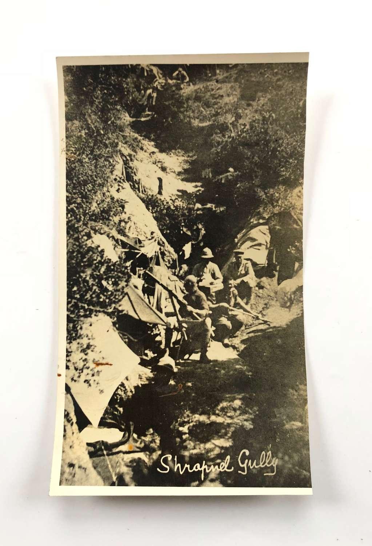 WW1 Gallipoli Shrapnel Gully Press Photograph.