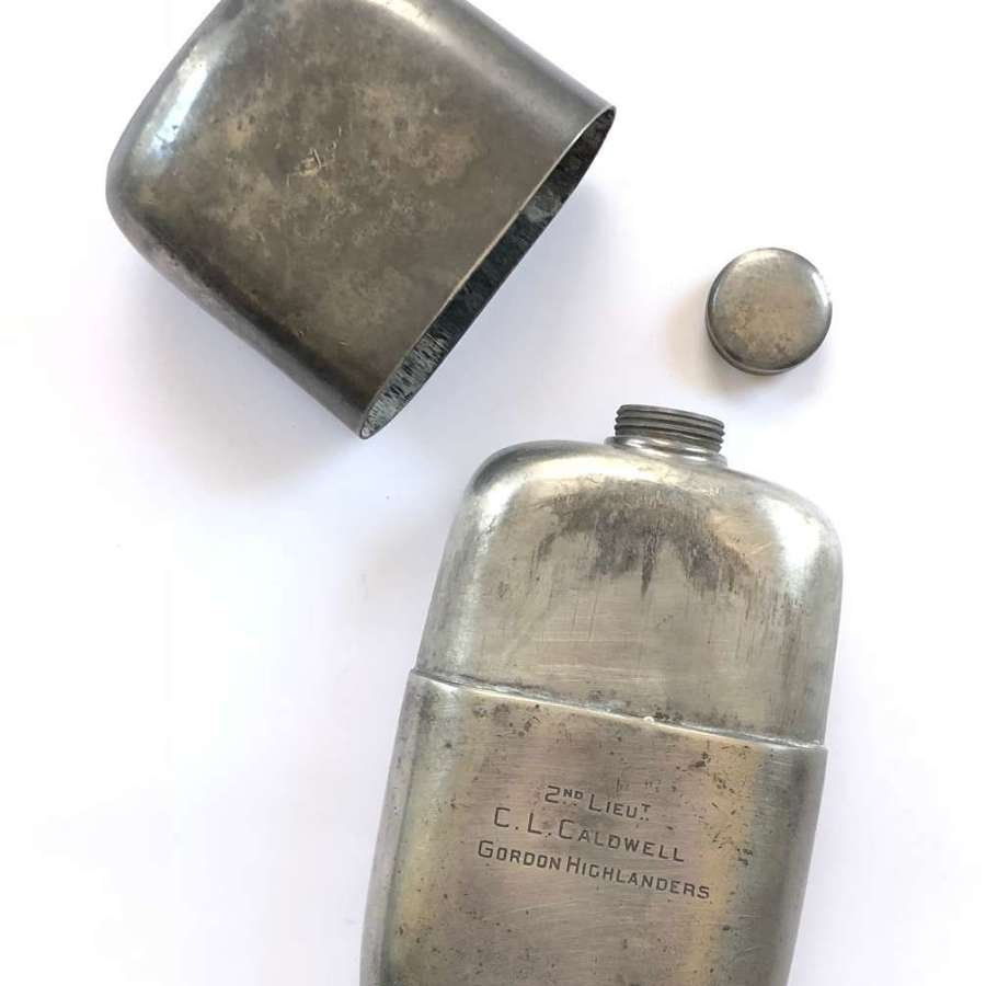 Gordon Highlanders Officer's Attributed Large Campaign Spirit Flask