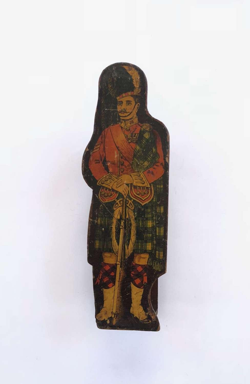Victorian / Edwardian Scottish Highland Regiment Money Box.