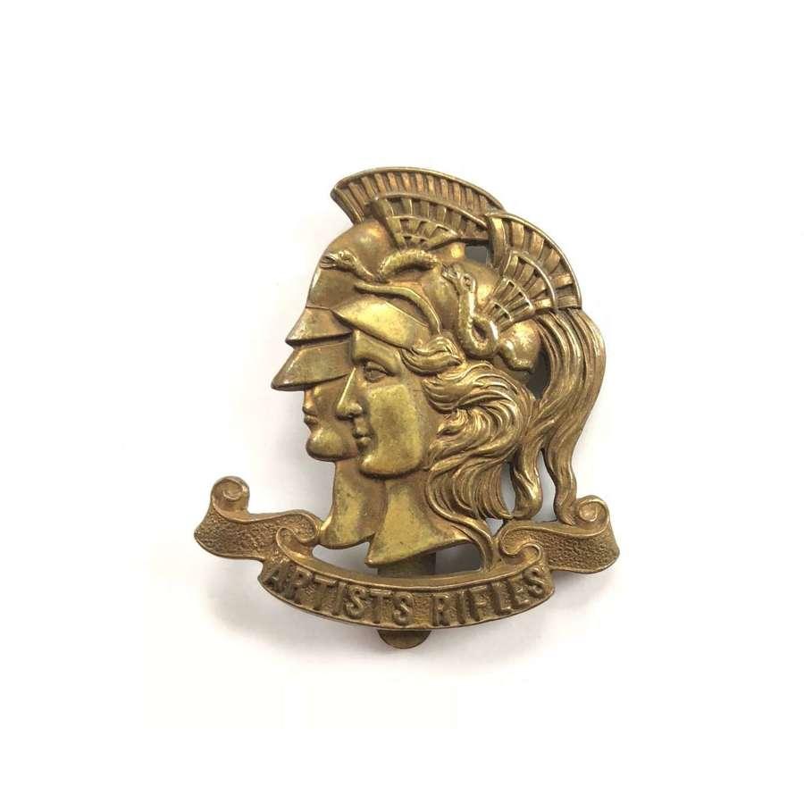 WW1 Artists Rifles 28th Bn London Regiment Cap Badge.