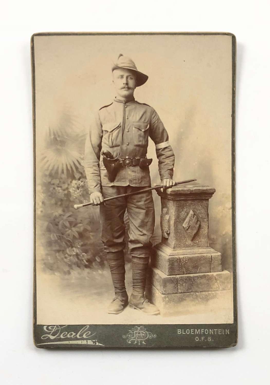 Boer War Carte-de-Visite Photograph Regimental Police.