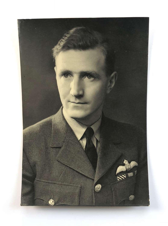 WW2 RAF DFC Winner Pilot Portrait Photograph.
