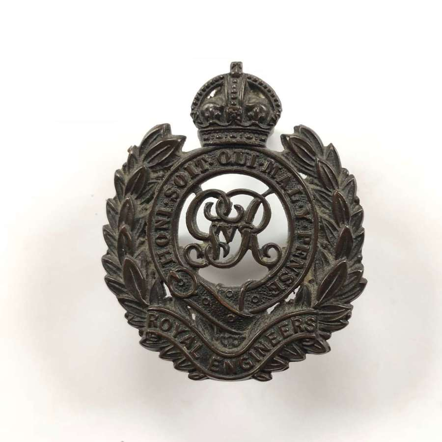 WW1 Royal Engineers Officer's OSD Bronze Cap Badge.