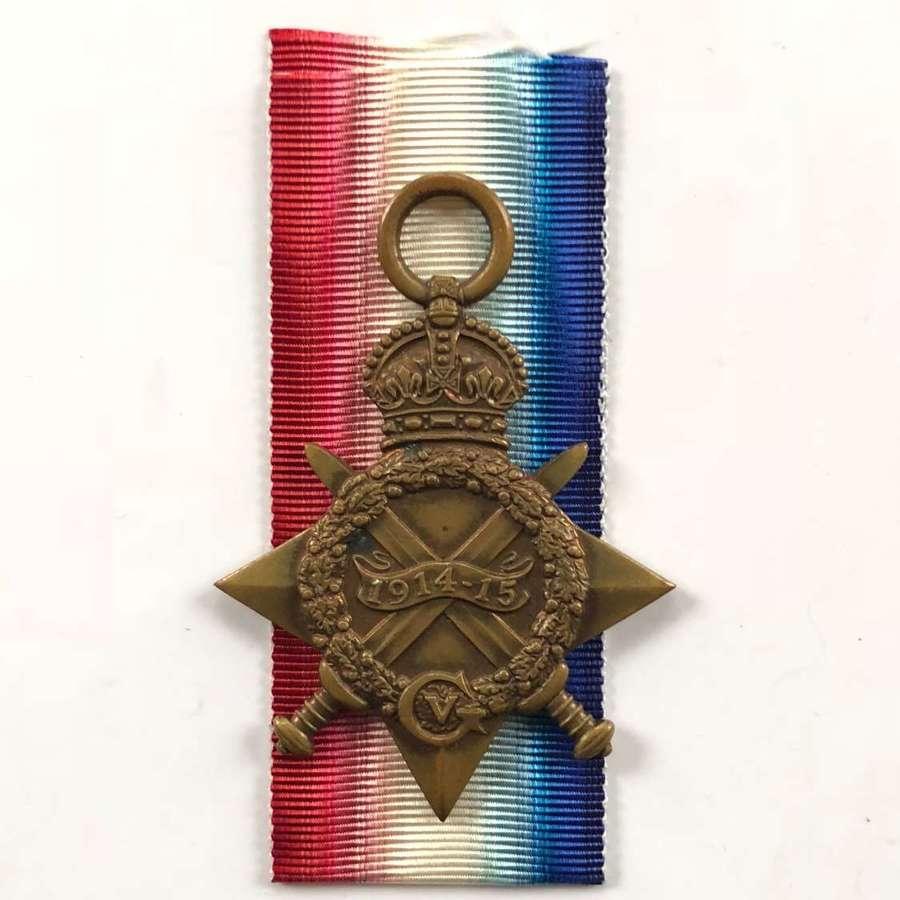 WW1 Cheshire Regiment Gallipoli Veteran 1914/15 Star.