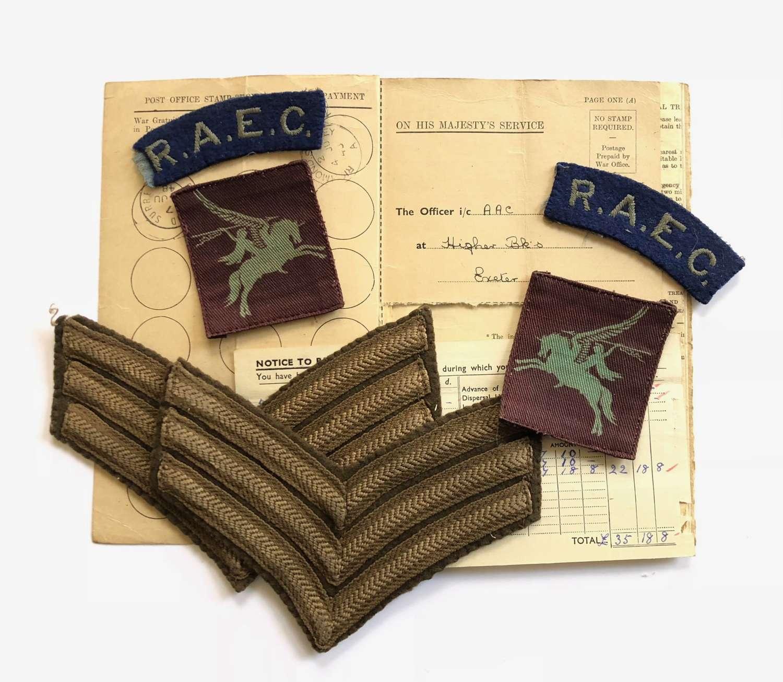 WW2 Airborne Forces Printed Pegasus Attributed Badges.