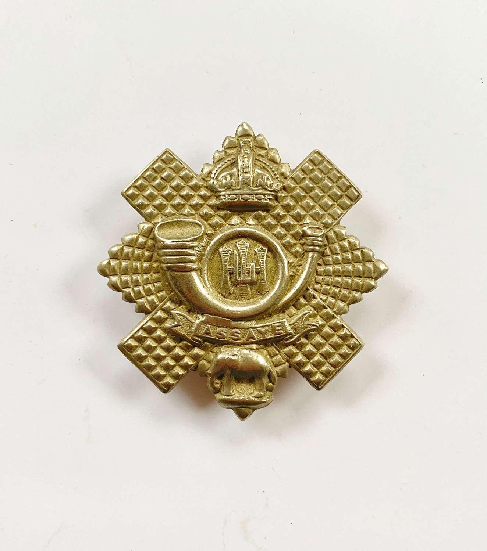 WW1 WW2 Pattern Highland Light Infantry Other Ranks Glengary Cap Badge