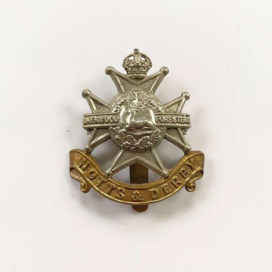 WW1/WW2 Notts & Derby Regiment Other Rank's Cap Badge.