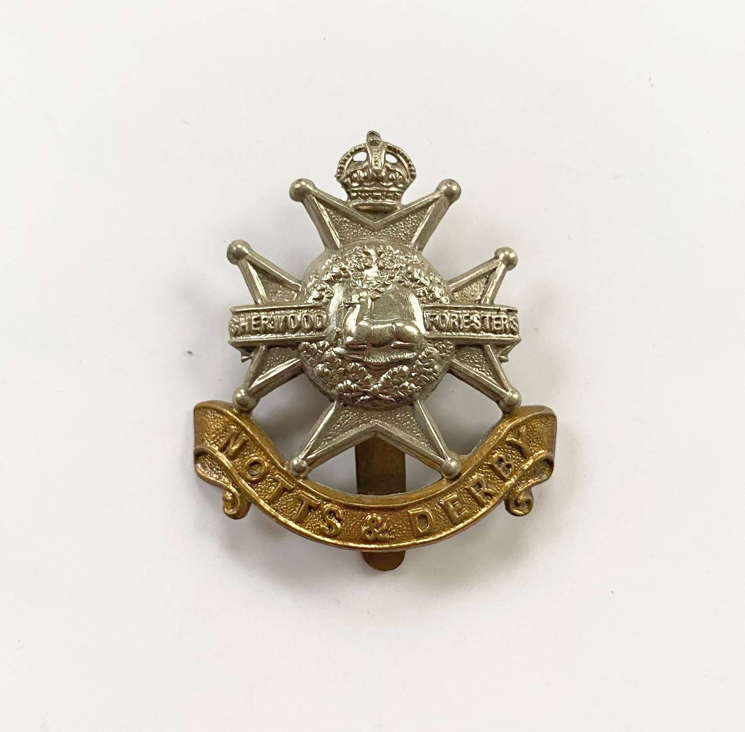 WW1/WW2 Notts & Derby Regiment Other Rank's Cap Badge.