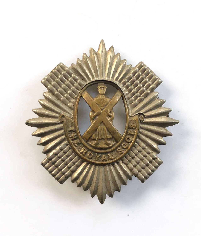 WW1 WW2 Pattern Royal Scots Cap Badge.