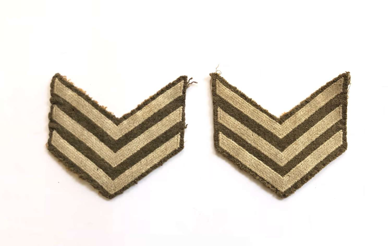 WW2 Early Post War Far East Pattern Sergeant Chevrons.