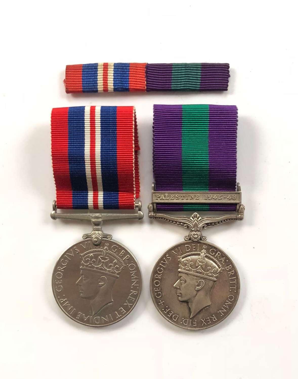 Royal Pioneer Corps WW2 Palestine 1945-48 Medal Pair