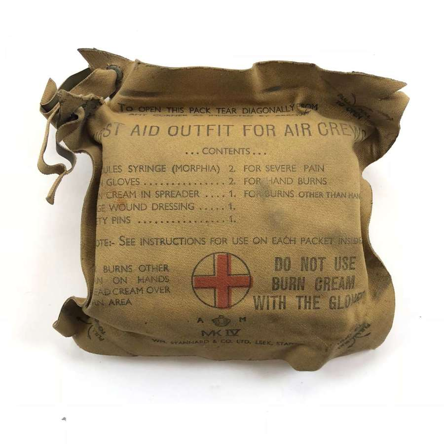 WW2 RAF Personal Aircrew First Aid Pack.