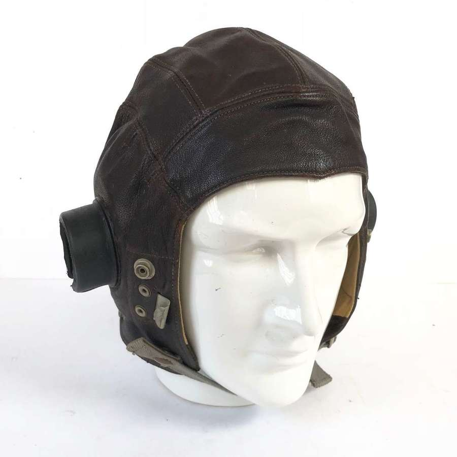 RAF WW2 Period C Type Leather Flying Helmet.