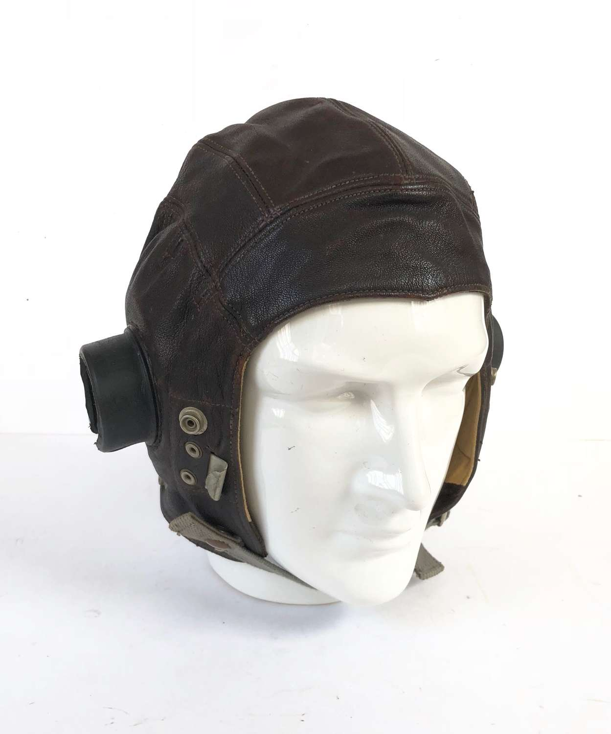 RAF WW2 Period C Type Leather Flying Helmet.