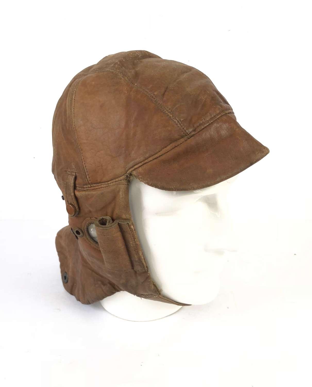 WW1 Period Leather Flying Helmet RFC RNAS RAF.