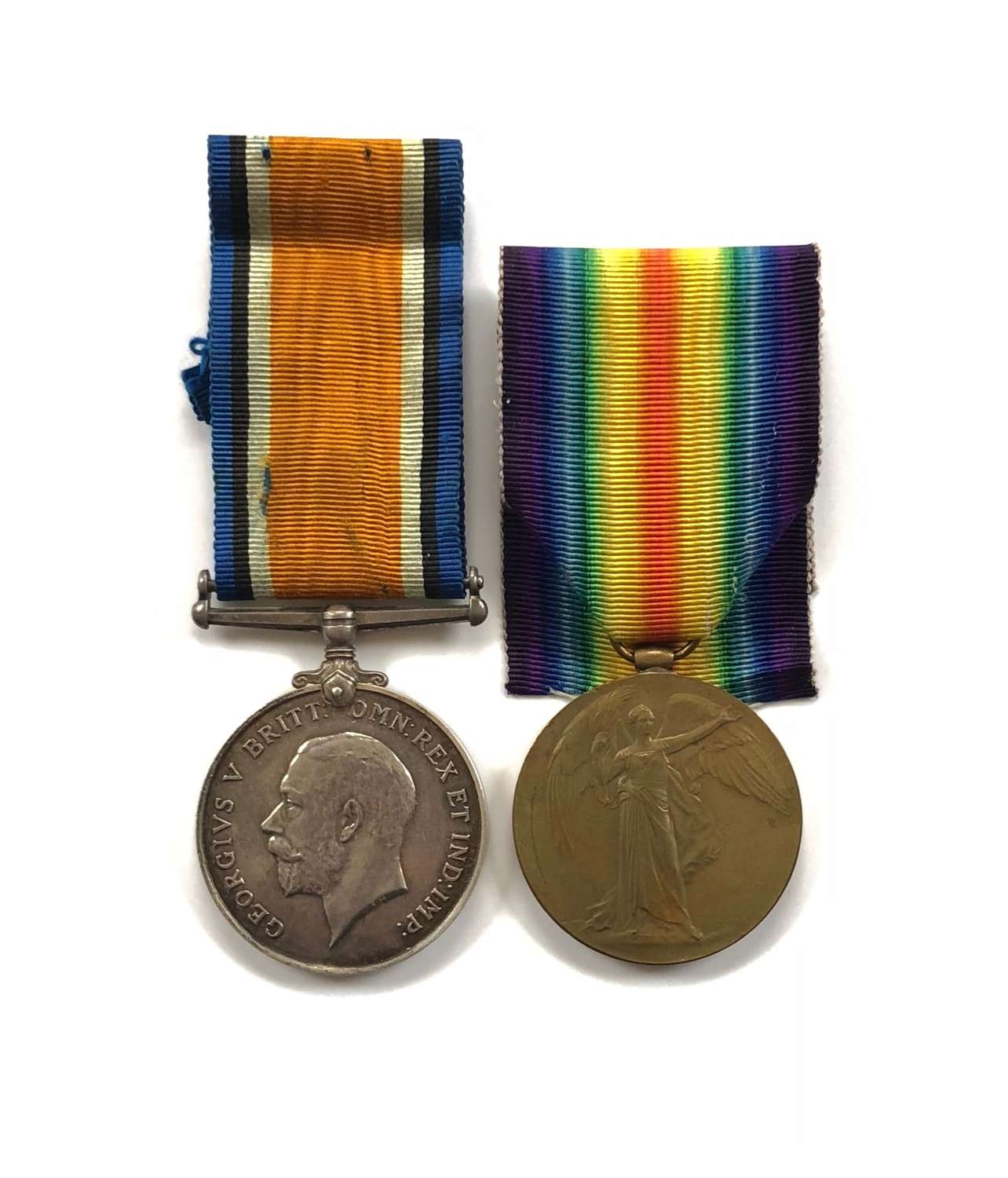 WW1 West Yorkshire Regiment Pair of Medals Missing in Action.