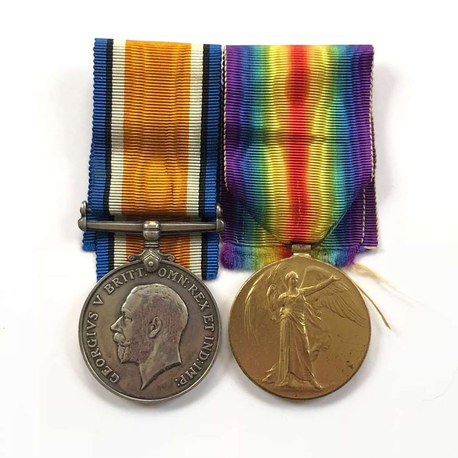 WW1 East Yorkshire Regiment Pair of Medals.