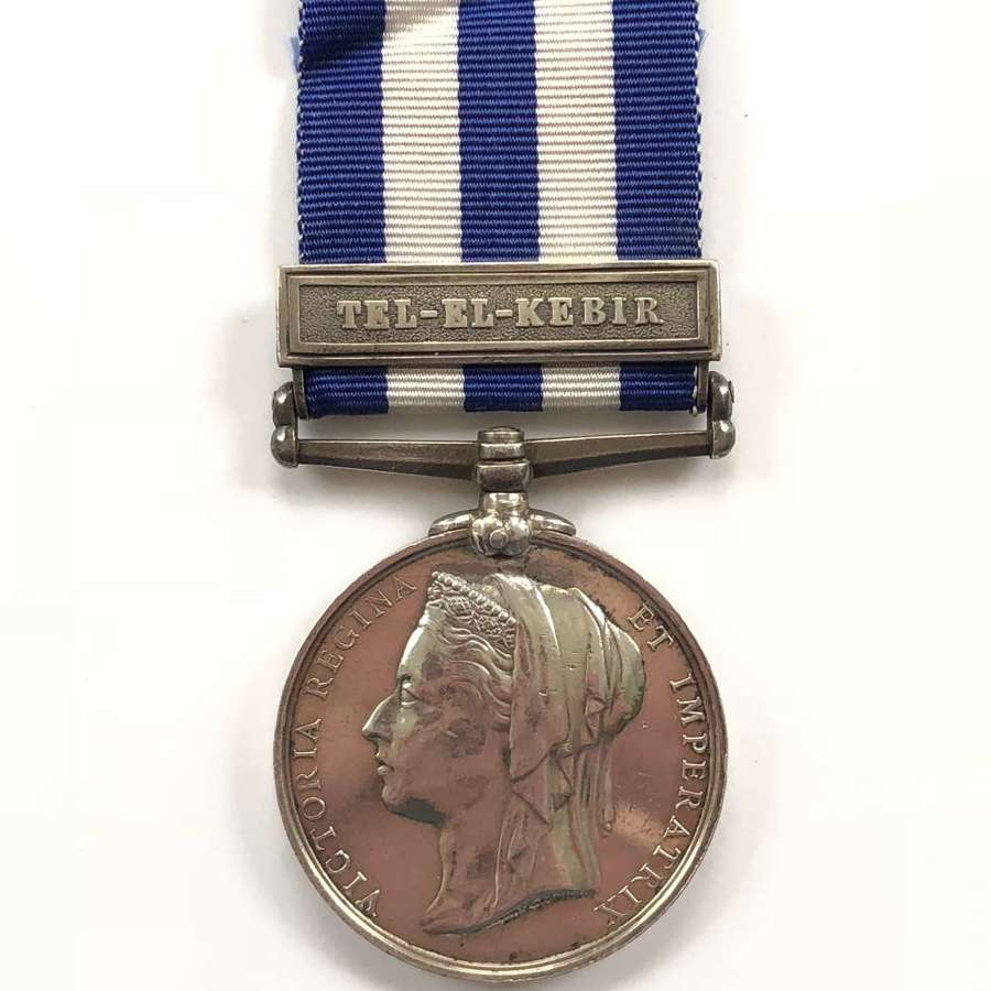 "3rd Bn King's Royal Rifle Corps Egypt Medal, clasp ""Tel-El-Kebir"