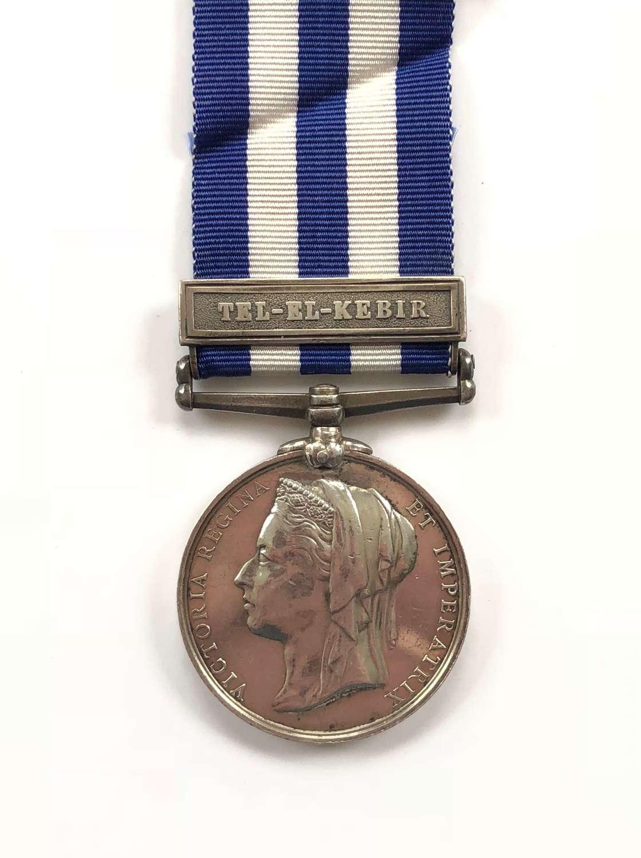"3rd Bn King's Royal Rifle Corps Egypt Medal, clasp ""Tel-El-Kebir"