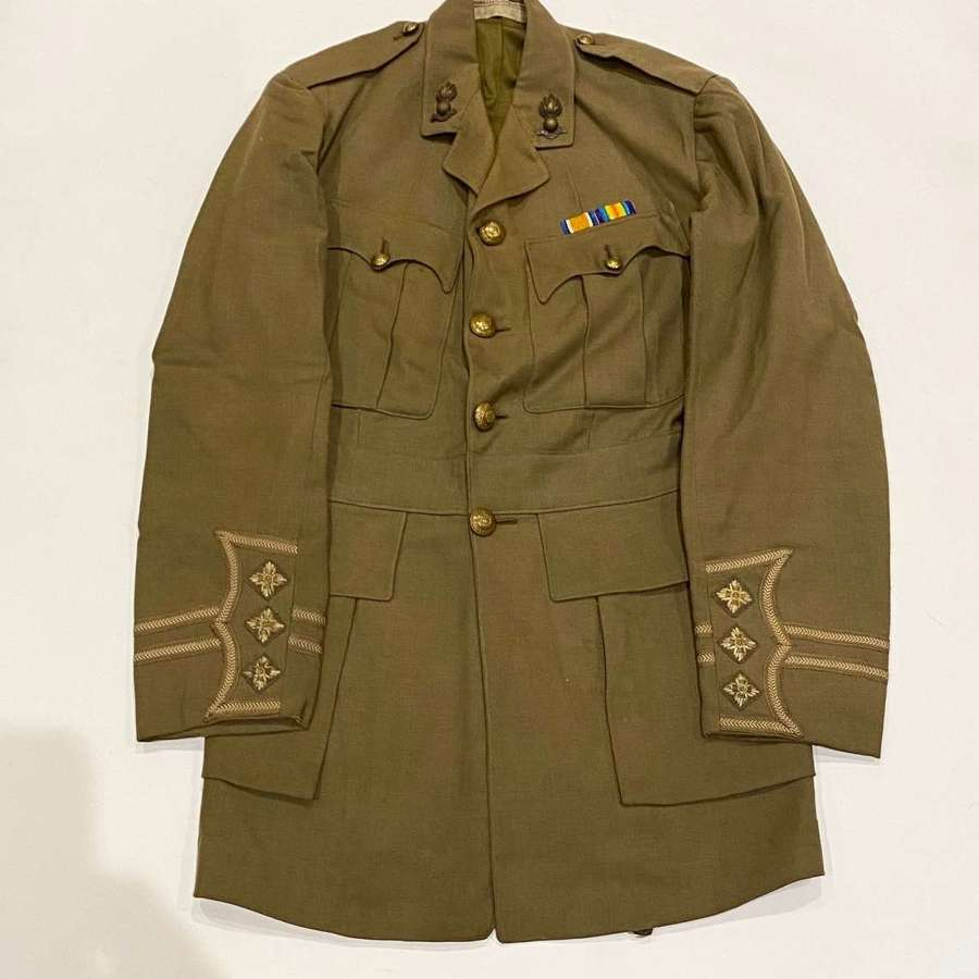 WW1 Royal Engineers Cuff Rank Attributed Tunic Russia Interest