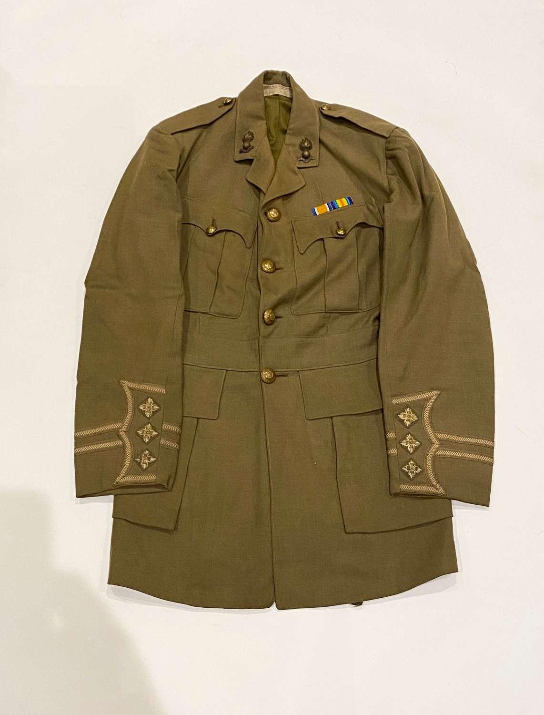 WW1 Royal Engineers Cuff Rank Attributed Tunic Russia Interest